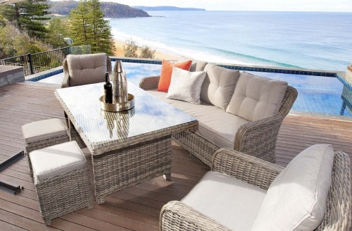 Poly Wicker Outdoor Dining Setting