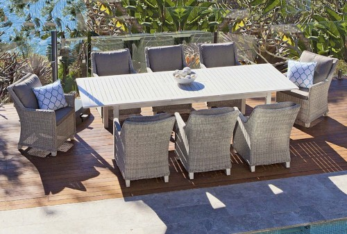 Luxe Toulouse Poly Wicker Outdoor Dining Setting Buy Outdoor