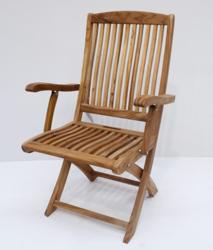 Indonesian Teak Folding Arm Chair Salvador