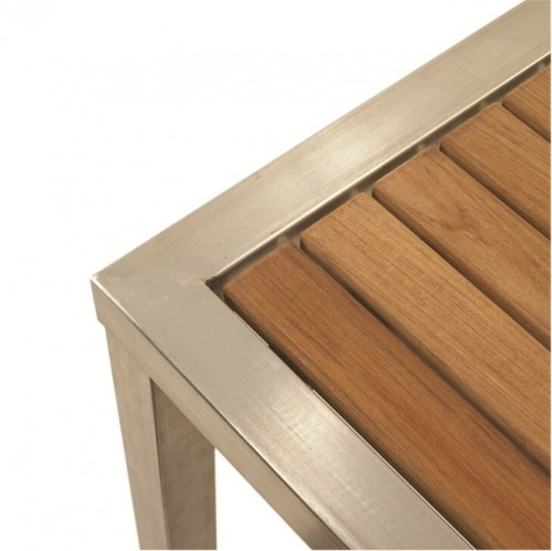 ... 1714 Teak U0026 Stainless Steel 180cm Dining Table Part 11