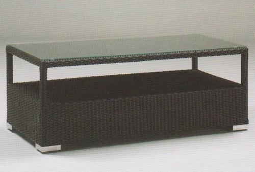 Hularo Weave & Glass Top Coffee Table WR-KUBUS-005 120x60